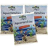 Dehner Aqua Aquarienkies, Körnung 5 - 8 mm, 3 x 5 kg (15 kg), weiß