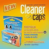 Il Kit di pulizia CleanerCaps comprende 2 capsule ideali alla pulizia del solo gruppo erogatore e 4 fiale anti calcare da utilizzare per il ciclo anticalcare richiesto. Grazie a CleanerCaps, potrai degustare il tuo caffè preferito senza resid...