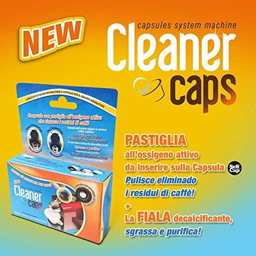 Kit disincrostante completo di 4 fiale e 2 capsule con pastiglia per 6 mesi di pulizia per macchine lavazza a modo mio (unico sul mercato)