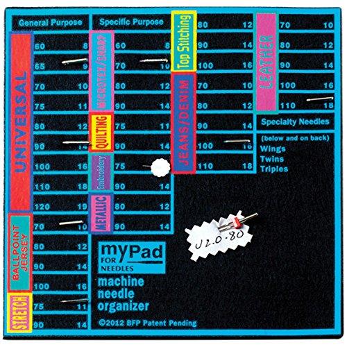 Maschinen-nadel-organizer (Blau Feather My Pad für Nadeln Maschine und Nadel Organizer)