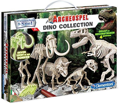 Clementoni Archeospel - Dino Collection Kit de experimentos - Juguetes y Kits de Ciencia para niños (Geología, Kit de experimentos, 7 año(s), Niño/niña, Gris, 420 mm)