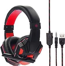 Gaming Headset, Gaming Kopfhörer Surround Stereo Stirnband Kopfhörer 3,5 mm mit Mikrofon Ohne Licht für PS6 / Xbox/One PC/Switch / Laptop/Tablets /Handy