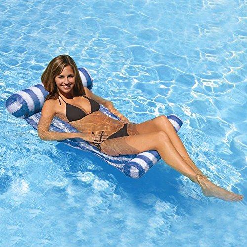 Aiernuo Premium Schwimmbad Float Hängematte, Aufblasbare Swimming Pool Lounger, Luxus Lilo Schwimmbad und Ocean