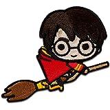 Harry Potter © en la escoba - Parches termoadhesivos bordados aplique para ropa