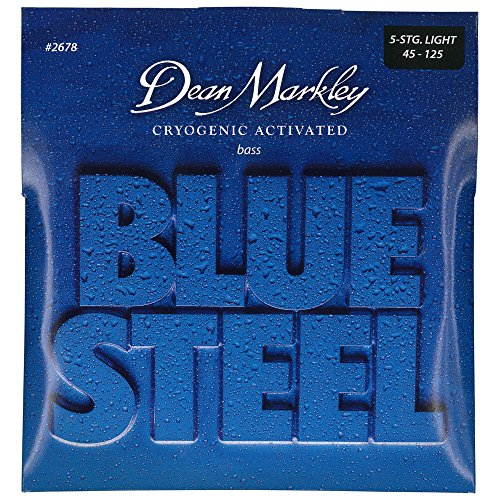 DEAN MARKLEY BLUE STEEL BASS GUITAR STRINGS LIGHT 5STR 45-125 - Electric Bass 5-string