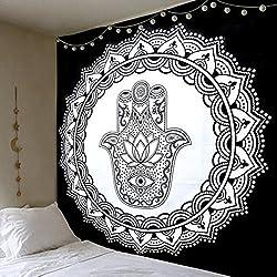 Tapiz de mandalas de La India. Mano de Fátima. Gama tapices baratos.