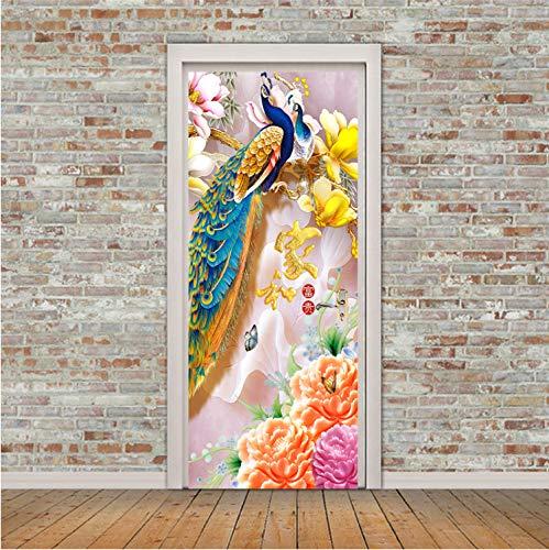 Smntt Phoenix Flower Türaufkleber Hersteller Professionelle Kreative Wandaufkleber Chinesische Dämpfer Aufkleber Phoenix Flower