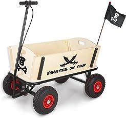 Pinolino 239088 - Pirat Jack Bollerwagen mit Handbremse, 95 x 60 x 58 cm