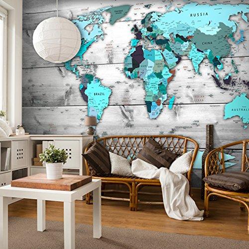 decomonkey | Fototapete Weltkarte Landkarte Kontinent 350x245 cm XXL | Tapete | Wandbild | Riesen Wandbild | Bild | Fototapeten | Tapeten | Wandtapete | Wanddeko |Wanddekoration | FOB0217c73XL