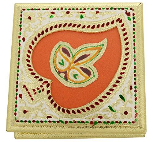 kapasi artigianali in metallo bianco Minakari decorativo frutta secca, Caramelle, cioccolatini, Fancy multiuso scatola confezione regalo Diwali (L8