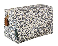 Morris & Co Love is Enough Large Linen Cosmetic Bag