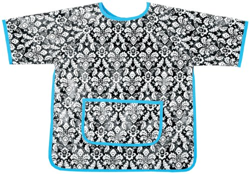 AM PM Kids! AM PM Kids! Paint Smock, Damask with Turquoise