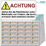 480 Aufkleber für Plastikbeutel mit offiziellem