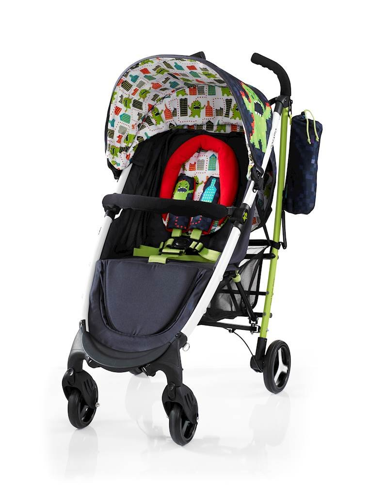 Cosatto Yo 2 Stroller, Suitable from Birth, Monster Arcade Cosatto Suitable from birth stroller with 4 years guarantee Extra wide seat, with multiple recline positions and adjustable leg rest for added comport Handy compact umbrella fold with auto lock, lightweight aluminium chassis and handy carry handle 2