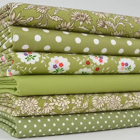 Always Knitting And Sewing New Fat Quarter Bundles 100% Cotton Vintage Yummy Greens 6fq