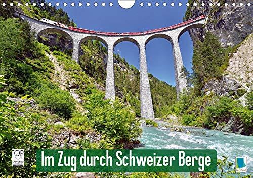 Im Zug durch Schweizer Berge (Wandkalender 2020 DIN A4 quer): Im Zug durch Schweizer Berge: Durch Berg und Tal (Monatskalender, 14 Seiten ) (CALVENDO Mobilitaet)