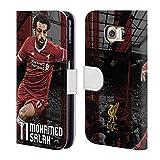 Officiel Liverpool Football Club Mohamed Salah 2017/18 Première Équipe Groupe 1 Étui Coque De Livre En Cuir Pour Samsung Galaxy S6