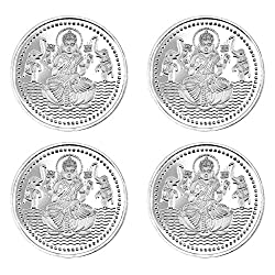 Pure Silver Coin 999 fineness Lot of 4 pcs of 20 gram each
