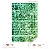 Graz Design 767063_20x15_60 Fliesenaufkleber Mosaik - Muster Grün | mit Fliesenbildern die Fliesen-Wände überkleben (Fliesenmaß: 20x15cm (BxH)//Bild: 60x90cm (BxH))