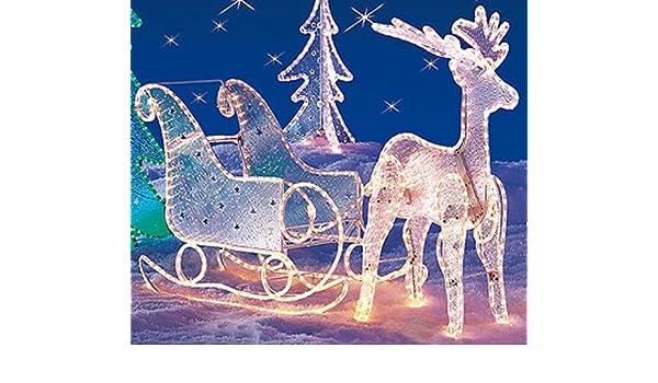 Beleuchteter Schlitten Weihnachtsdeko.Großer Beleuchteter Schlitten 80cm Weihnachtsdeko Auch Für Außen