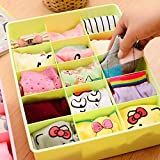 #6: Max Home 15 Grid Plastic Storage Box Container Drawer Wardrobe Boxes for Underwear, Bra, Ties, Socks for Girls Clothing Organizer Storage Pouch, Multicolour