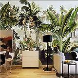 Syssyj Tapete Im Europäischen Stil Retro Regenwald Bananenbaum Affe Wandbilder Restaurant Wohnzimmer Fresko-200X140CM