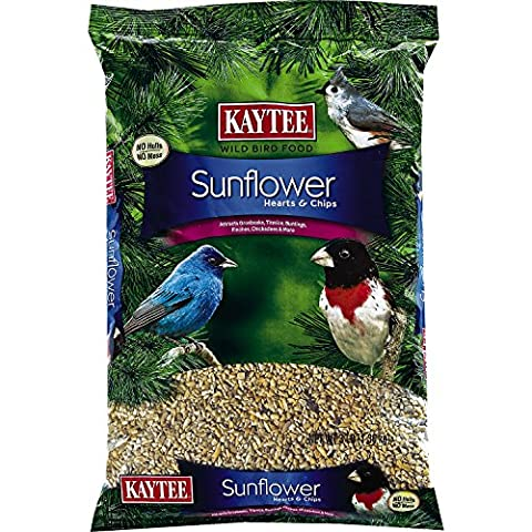 Kaytee Food Sunflower Hearts & Chips Highly Nutritious High Oil Content 3lb