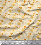 Soimoi Orange Samt Stoff dot & Check Patchwork Stoff Drucke