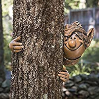 garden mile® Fairy Garden Elf Tree Peeker Novelty Garden Ornaments Garden Gnome Tree Decoration Home Decor. (Elf Peeker)