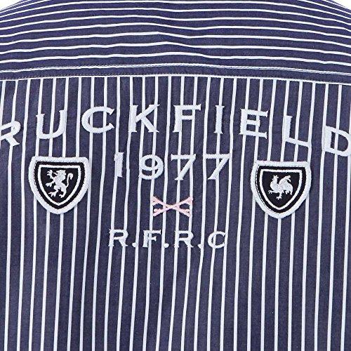 Ruckfield - Chemise rayé et coudières rugby - Gris Gris