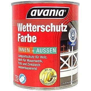Avania Langzeitschutz AcrylWetterschutzfarbe innen&Außen 2,5 L Farbwahl, Farbe:Rotbraun