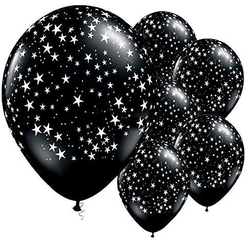 Vian Lundgaard - Black Star 25 Stk. Latexballons 28 cm ungefüllt, Schwarz