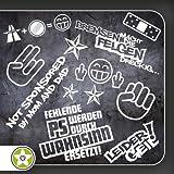 Sticker Bomb Set 01 - Bremsen…Felgen…, Shockerhand, Autobahnfreak, Fehlende PS…, Leider Geil... Verschiedene Farben
