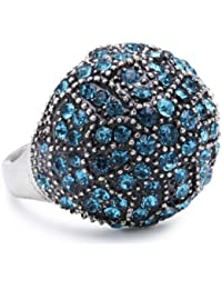 Pilgrim Jewelry Damen-Ring aus der Serie Desert queen versilbert blau verstellbar 2.0 cm 141236204