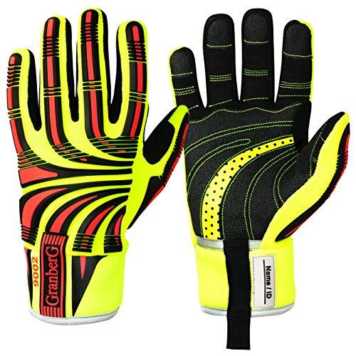 GRANBERG 115.9002–9–1Paar Cut 5Impact Viz Heavy Duty Handschuhe, wasserdicht, Winter gefüttert, optimale Ergonomie und Komfort, Größe 9, groß