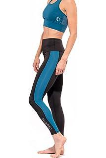 Sundried Donna Half Zip Fitness Strato di Rivestimento di Base a Maniche Lunghe di Colore Che Funziona Top