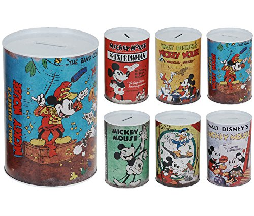 Hucha lata Media Disney Vintage 10x 15cm H