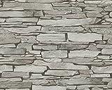 A.S. Création Carta da parati Authentic Walls Satin effetto pietra 10,05x 0,53m beige grigio nero 943118