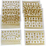 10 Hojas 3D Pegatina Nail Art Stickers Decoración Uñas Manicura para Mujer