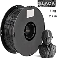 PLA 3D Printer Filament Black 1.75mm 1KG 2.2LBS 3D Print Accessories Spool Widely Compatible with 3D Printer Pen High Purity