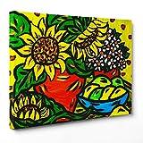 Bild auf Leinwand Canvas–Gerahmt–fertig zum Aufhängen–Stillleben Kubismus Stil Picasso Dimensione: 70x100cm A - Senza Cornice