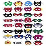 KRUCE 32 Pieces Superhero Masks,Superhero Party Supplies,Superhero Cosplay Masks,Party Favors Half Masks for Children or Boys Aged 3+