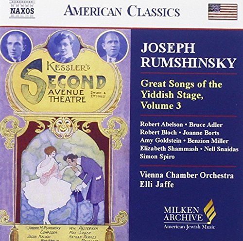 Great songs o.t.yiddish stage,V.3 great songs of the yiddish stage, vol. 3