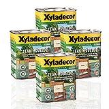 4 x Xyladecor Teak-Möbelöl farblos 0,75l