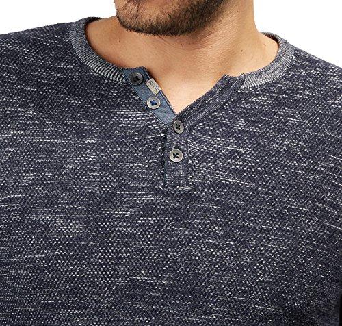 Tom Tailor für Männer knit Pullover mit Knopfleiste knitted navy