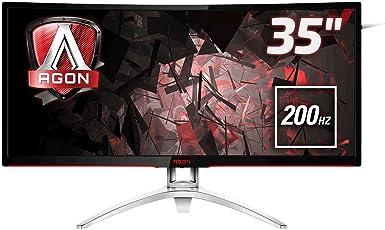 AOC Agon AG352QCX 88,9 cm (35 Zoll) Curved Monitor (DVI, HDMI, USB Hub, DisplayPort, 4ms Reaktionszeit, 200 Hz, 2560x1080, FreeSync) schwarz/Silber