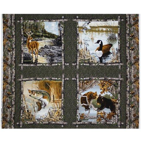 Real Tree Baumwolle Stoff von sykel-realtree Camouflage fabric-sold von der yard-realtree Baumwolle Kissen Quilt panel-9943 (Realtree Stoff)