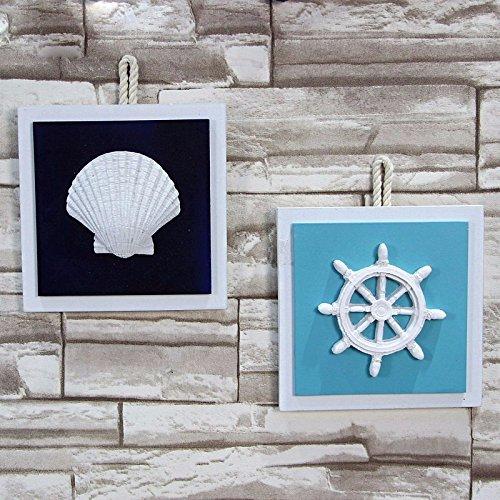 SSBY Mediterraneo orientale style home decor Starfish photo frame timone Ocean nuoto anello parete pendente orologi da parete decorazioni a parete,D