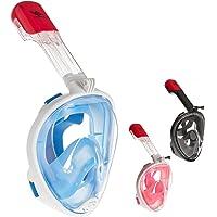Rucanor Schnorchelmaske Vollmaske, Tauchermaske für Kinder und Erwachsene, 180° Grad Sicht, Aktion Kamera-Halterung, Anti-Fog und Anti-Leck