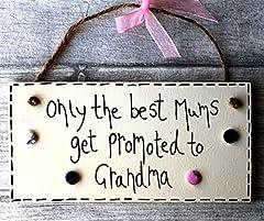 Idea Regalo - MadeAt94, targa regalo per nonna, per compleanno, personalizzabile (lingua italiana non garantita)